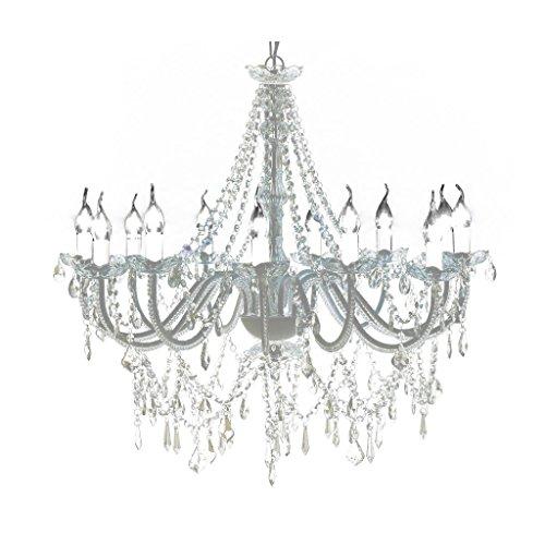 vidaXL Leuchte Kronleuchter Lüster Deckenleuchte Hängeleuchte Lampe Glas 12-flammig