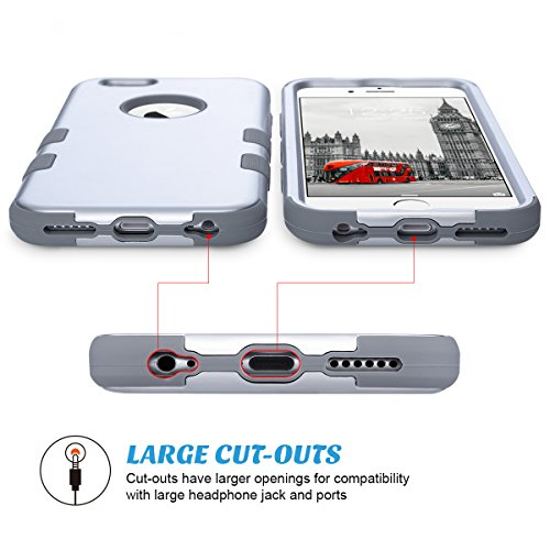 Cover iPhone 6s, ULAK iPhone 6 Custodia ibrida a 3 strati in silicone a prova di collisione case cover per Apple iPhone 6 / iPhone 6s (4,7 pollici) - Oro Rosa Argento