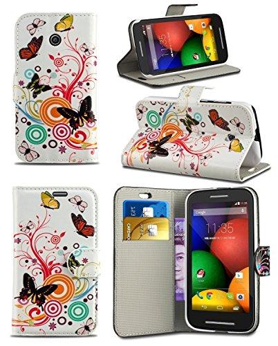 Baba Essentials 4U® nuovo Samsung Galaxy S5 A portafoglio in pelle Custodia Cover custodia + (Viola Nuovo Pennino)