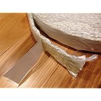 Estufa de leña con fijación adhesiva para puerta junta para olla a presión, fibra de vidrio cuerda con cierre adhesivo. Plano 0,32 cm x 2,54 cm de ancho y 10 pies. De