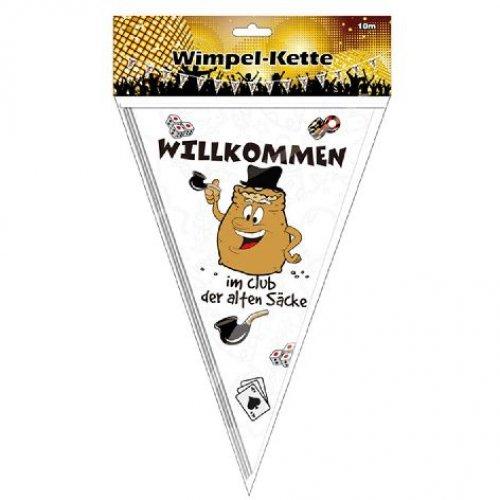 Party Wimpel Kette Girlande Willkommen im Club der alten Säcke 10m (Club-wimpel)