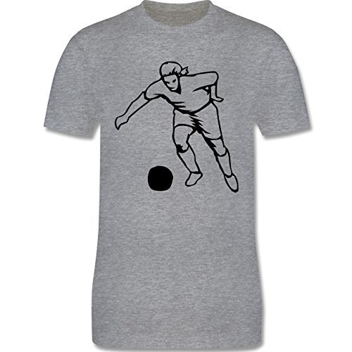 Fußball - Fußball - Herren Premium T-Shirt Grau Meliert