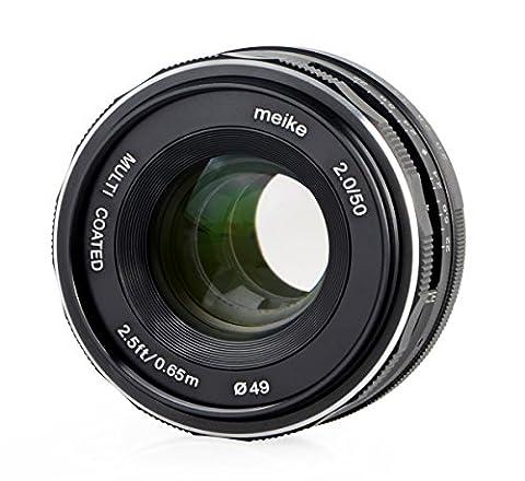Meike Objektiv 50mm F2.0 für Canon EOS M, multicoated