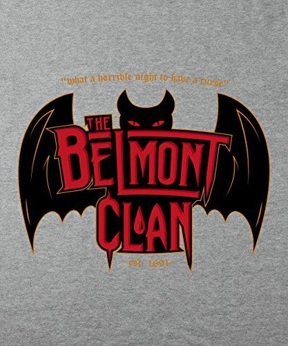 -- Belmont Clan - Vampire Hunters -- Boys T-Shirt Sports Grey
