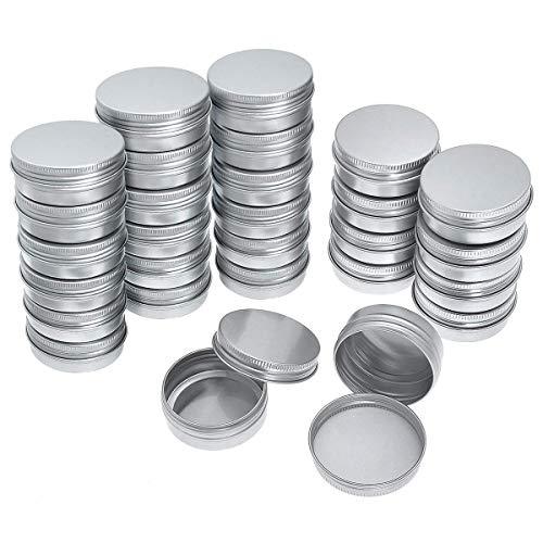 SODIAL Paquet De 40 Vis En Aluminium Rond à Dessus Bo?tes De Conserve - Vis En Aluminium Couvercle Rond Conteneur En étain Bouteille