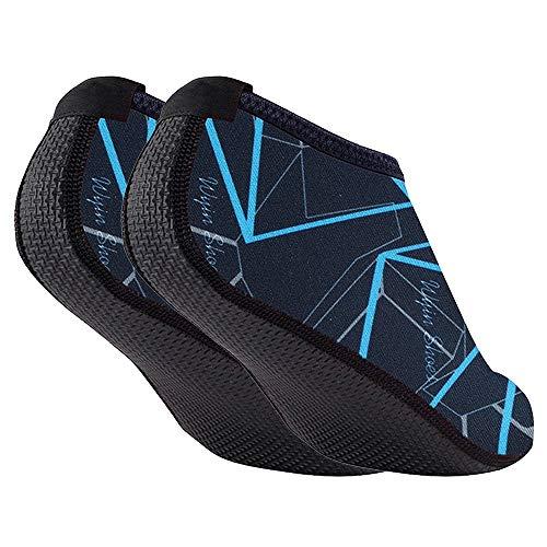 ChicSoleil Aqua-Socken Damen Herren Strandsocken Schnelltrocknend Schwimmsocken Wassersocken Tauchsocken für Schwimmen Beach Volleyball Schnorcheln Segeln Surfen Yoga