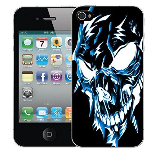 Mobile Case Mate iPhone 4s clip on Dur Coque couverture case cover Pare-chocs - cherished Motif blue robotic