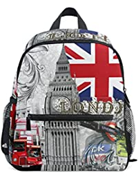 0e024ddf1660 ZZKKO United Kingdom Bigben Bubble Car Union Jack Kids Backpack Pre-School  Bag for Kindergarten