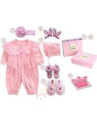 SHISHANG Regalo de regalo del bebé Caja de regalo Niño Niña Regalos de bebé para 0-12 meses Recién nacido 93% Algodón + 7% Spandex Four Seasons Gift Bag , 60cm