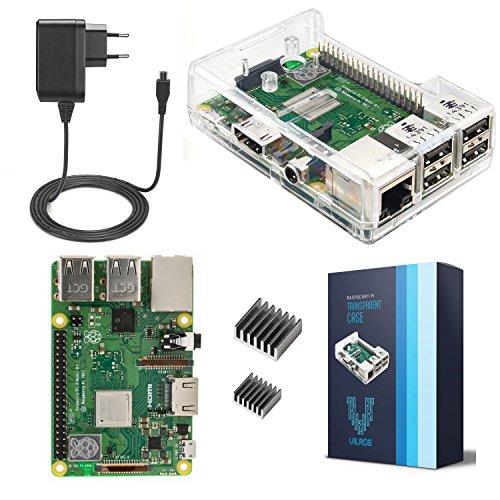 V-Kits Raspberry Pi 3 Model B+ (B Plus) Basic Starter Kit---Enthalt: Raspberry Pi 3 Model B+ (B Plus)