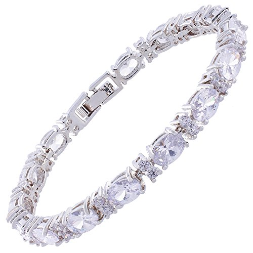 jewellery-oval-cut-white-topaz-gemstones-fine-cz-18k-white-gold-plated-18cm-7inch-tennis-bracelet-si