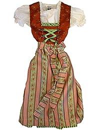 Fijo liches Niños tirolesa con blusa & Tracht Delantal (Talla 104–164