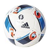 adidas Herren Ball EURO 2016 Sala 5X5, White/Bright Blue/Night Indigo, FUTS, AC5431