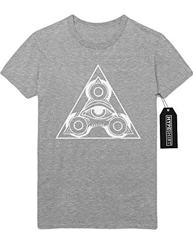 "T-Shirt Fidget Spinner ""TRIANGLE"" H140054 Grau"