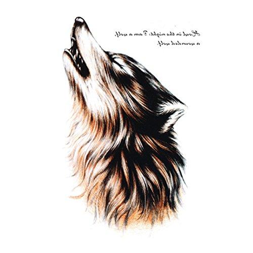 Temporäre Tattoos, Rocita Körper Tattoo Aufkleber für Frauen Gefälschte Wasserdichte Temporäre Tätowierung Neues Design Wolf