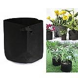 ODN Pflanzsack Pflanztasche Töpfe Grow Bag Plant Pot Hochbeet mit Henkeln (ø34x 30cm)