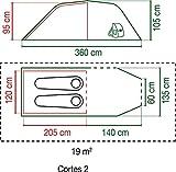 Coleman Zelt Cortes 2, 2 Personen, 2 Mann Zelt, Tunnelzelt, Festivalzelt, leichtes Trekkingzelt mit Vorzelt, wasserdicht WS 2.000mm - 3