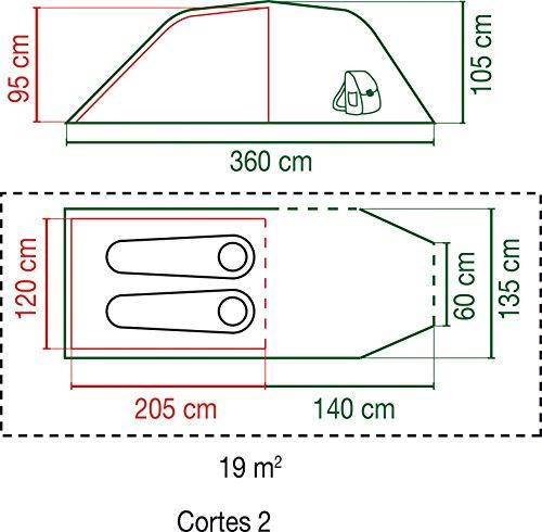 Coleman Hernan 2 - 2 Personen Tunnelzelt für Festivals (Biker und Backpacker, leicht zu verstauen, Wasserdich WS 2.000 mm) -