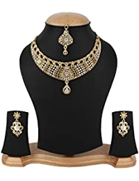 Jewels Gold Traditional Antique Gold Plated Fancy Designer Latest Necklace Set For Women & Girls