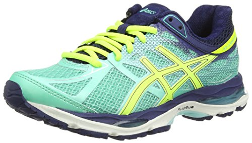 Asics Gel-Cumulus 17, Women's Running Shoes, Blue (Aqua Mint/Flash Yellow/Navy 7007) 8 UK