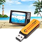 asiproper Multifunktional Golden USB Weltweit Internet TV & Radio Player Dongle