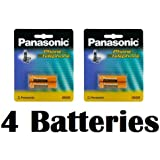 Panasonic Original Ni-MH Rechargeable Batteries (2 Packs Of 2) For The Panasonic KX-TGA101S - KX-TG1031S - KX-TG1032S - KX-TG1033S - KX-TG1034S & KX-TG1035S DECT 6.0 Digital Cordless Phone Answering System