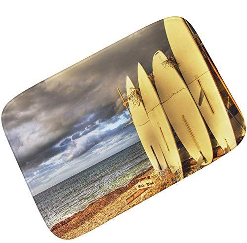 Matte, Surfbrett (sasdasld Strand kühle Surfbretter Fußmatte weiche saugfähige Badezimmer Fußmatte Wohnkultur Bodenmatte rutschfeste Küchenteppich WC Matte-40x60CM)