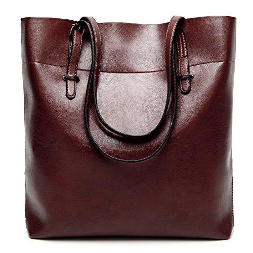 YYWOversized Tote Bag - Borsa tote grande Donna Wine Red