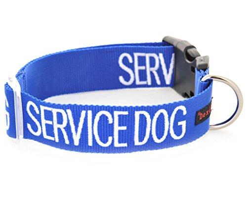 Diensthund blau farbcodiert S M L XL Hundehalsbänder verhindert Unfälle durch andere im Voraus...