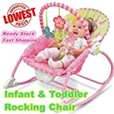KIDSZONE Newborn to Toddler Music and Vibrating Rocker Chair with Calming Vibrations, Adjustable