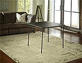 Square Vinyl Top Folding Dining or Card Table , Black : Cosco Dorel Industries Square Vinyl Top Folding Dining or Card Table, 34-Inch, Black