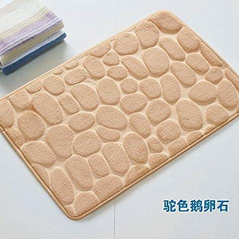 BLZZR*Export Qualität Bad Rutschfeste Matte Wasseraufnahme matten Füße Schlafzimmer Küche Badezimmer Tür mat, 40cm*60cm, Oberfläche und Farbe Stereo