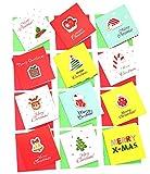 Smiling Art Mini Grußkarten Set für Weihnachten, Karten inklusive Umschlag und Schutzhülle mit einem kreativen Design, Glückwunschkarten, Klappkarte, Sparset