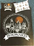 Conjunto de funda edredón y almohada de Harry Potter (distintos tamaños), Black & White Hedwig, King 230CM X 220CM + 2 Pillowcases