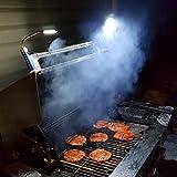 LILUOE - Luci magnetiche per Barbecue, 2 Pezzi (Include 6 batterie alcaline AAA, Colore Nero