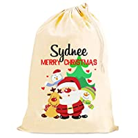 Personalised SANTA and FRIENDS Christmas large sack