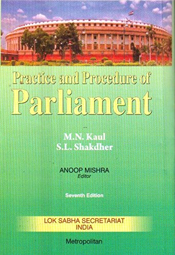 Practice and Procedure of Parliament