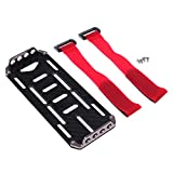 FITYLE Carbon Fiber Batterie Mounting Plate Tablett for Axial SCX10 1/10 RC Crawler Auto