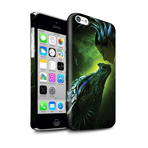 Officiel Elena Dudina Coque / Clipser Brillant Etui pour Apple iPhone 5C / Pack 5pcs Design / Dragon Reptile Collection Écailles Vertes