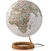 Globo terráqueo. Esfera sepia, arce y aluminio, 30 cm, iluminada (National Geographic)