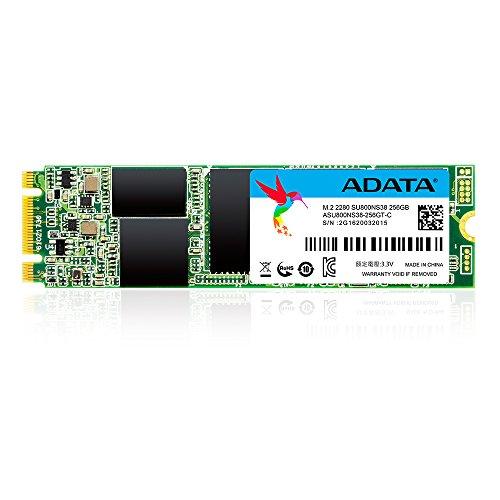 ADATA ASU800NS38-256GT-C M.2 2280 256GB High Speed Solid State Drive für Ultrabook/Notebook/Desktop-PC (3D-NAND 560MB/s Lesen und 520MB/s Schreiben)