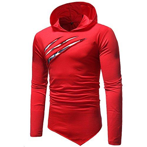 DEELIN Sweatshirts Herren Herbst Winter Casual Tops Langarm-Zipper T-Shirt Solide Kapuzenbluse