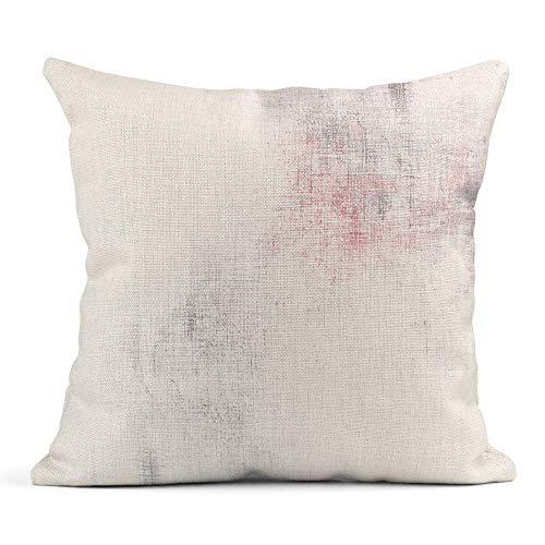 Ale haung Dekokissenbezug Print Grau Vintage Aquarell Weiß Grau Rosa Abstrakt Blass Gemälde Muster Kissenbezug einseitig Design Zuhause Sofa Decor45x45 cm -