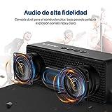 VICTSING VTIN R1- Altavoz Bluetooth Portátiles, Bluetooth V4.2 con HiFi Audio y Bajos Mejorados, Llamadas Manos Libres, AUX-IN Puerto (el Jack 3,5mm), Sporte Tarjeta TF (Negro)