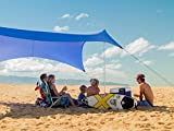 Neso Zelte Grande Beach Zelt, 2,1 m hoch, 2,8 m (9 ft) x 2,8 m (9 ft), Verstärkte Ecken und Kühlfach