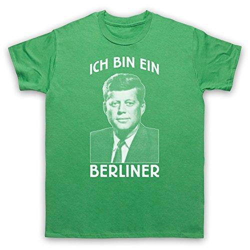 JFK Ich Bin Ein Berliner Herren T-Shirt Grun