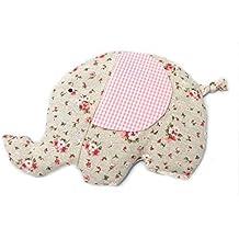 Saco térmico de semillas de trigo y semillas de lavanda con forma de elefante. (Rosa)