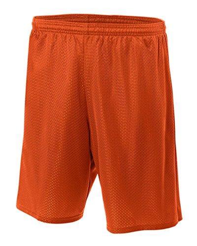 A422,9cm gefüttert Tricot Mesh Shorts Medium Athletic Orange (Athletic Kurze Mesh Wicking)