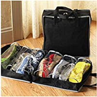 Mengonee Portable Shoe Box Non-Woven Folding Travel Shoes Storage Shoes Organizer Bags