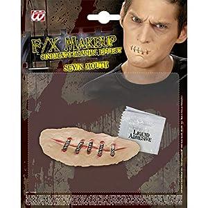 WIDMANN Latex Application mouth sewn together (accesorio de disfraz)